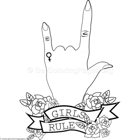 girls rule coloring pages getcoloringpagesorg