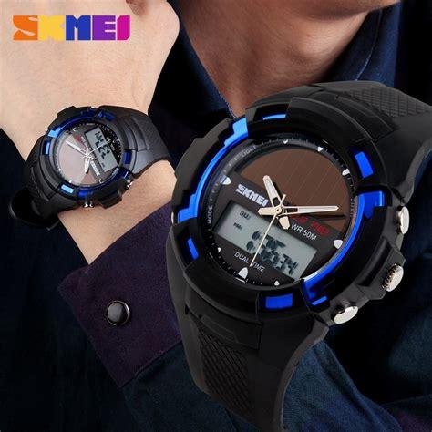 jual jam tangan pria skmei casio digital led