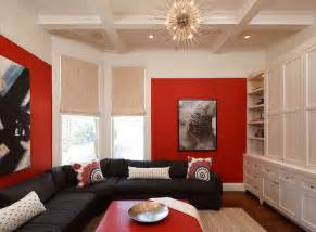 living room decor red and black modern house