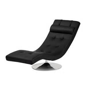 designer relaxliege relaxliege verve kunstleder schwarz home24