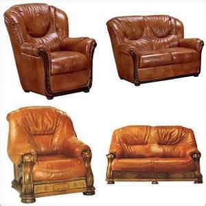 Salon En Cuir : salon cuir et bois prix et produits avec le guide shopping kibodio ~ Teatrodelosmanantiales.com Idées de Décoration