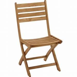 Chaise Jardin Bois : lot de 2 chaises de jardin en bois robin naturel leroy merlin ~ Teatrodelosmanantiales.com Idées de Décoration