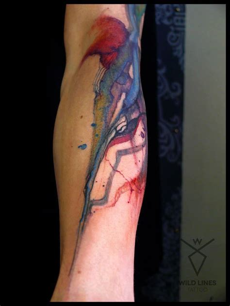 Watercolor Elephant Tattoo On Forearm