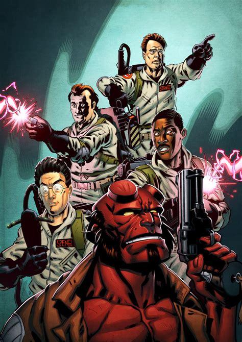 fan art hellboy   ghostbusters ghostbusters news