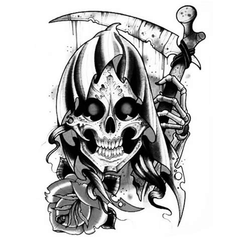 tatouage la faucheuse tatouage 233 ph 233 m 232 re tete de mort la faucheuse achat vente tatoo bijou de corps tatouage