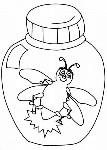 Coloring Lightning Pages Bug Bugs Preschool Clipart