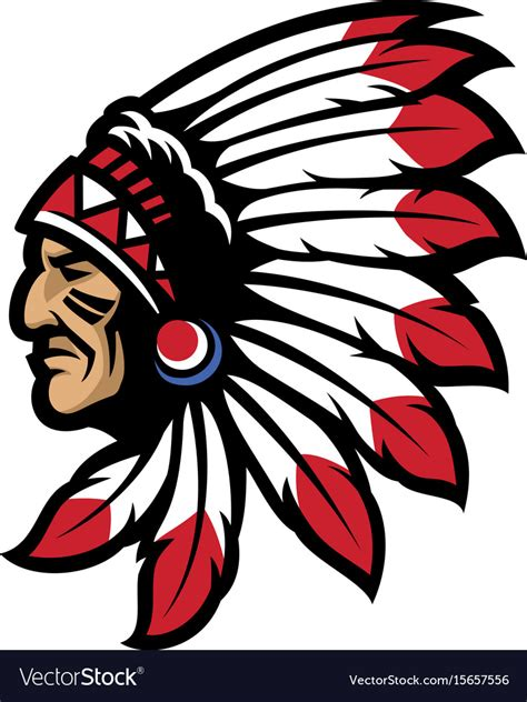 Indian Chief Image by American Chief Mascot Royalty Free Vector Image