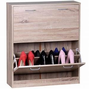 meuble a chaussures en bois agglomere couleur chene 87 x With meuble a chaussure porte manteau 5 bureau chene worky2 achatvente secretaire bureau pas