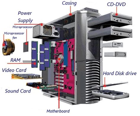 Back Of Pc Diagram by Learning The Parts For The Basic Parts Of A Desktop