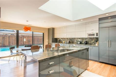modern kitchen designs pictures modern kitchen with hardwood floors skylight in los 7699