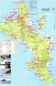 Large detailed tourist map of Mahe Island (Seychelles ...