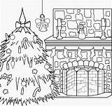 Coloring Fireplace Christmas Pages Xmas Merry Pole North Colouring Scene Gingerbread Nativity Dog Printable Scenes Interactive Fireplaces Catholic Fresh Getcolorings sketch template