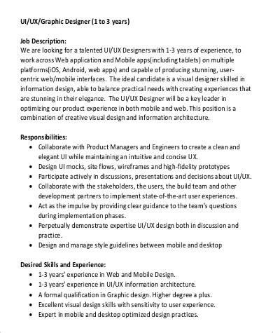 ux designer description 9 ux designer description sles sle templates