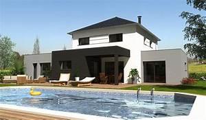 maison contemporaine a etage 178 m2 5 chambres With good plan de belle maison 11 terrasse