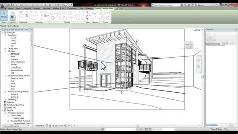 how do i get section 8 revit section perspective tutorial