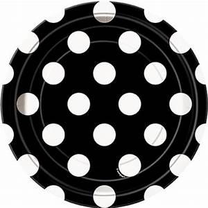 Teller Schwarz Weiß : kuchen teller schwarz mit wei en punkten ~ Markanthonyermac.com Haus und Dekorationen