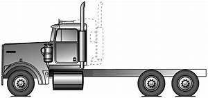 2008 Kenworth W900L Heavy Truck blueprints free - Outlines