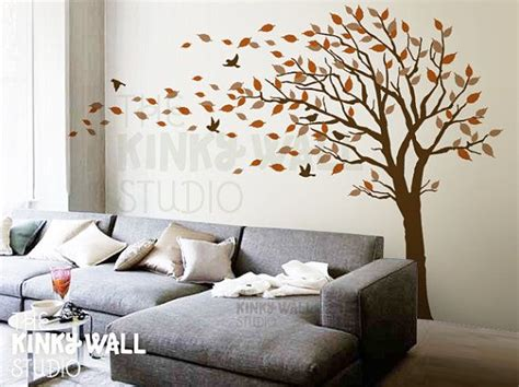 Blowing Tree Wall Decal, Bedroom Wall Decals Wall Sticker
