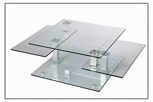 Table Basse En Verre Design : table basse design carr e en verre extensible cbc meubles ~ Teatrodelosmanantiales.com Idées de Décoration