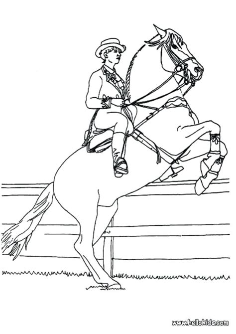 horse  rider coloring pages  getcoloringscom