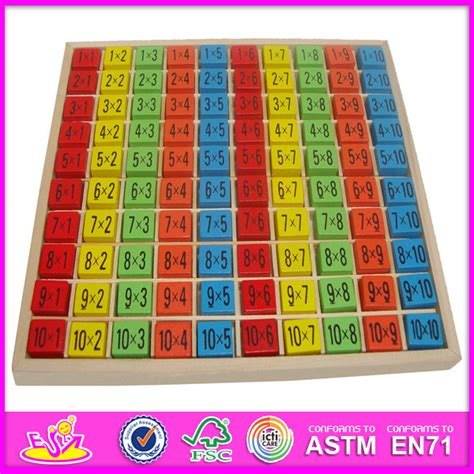 China 2014 New Kids Wooden Multiplication Table