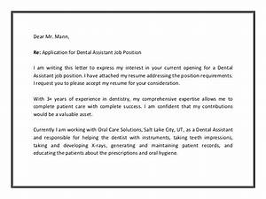 dental assistant cover letter sample pdf With cover letter to show interest in job