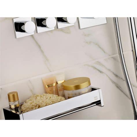 mensola doccia mensola doccia bagno cromo h6x12x60cm fissaggio adesivo 3
