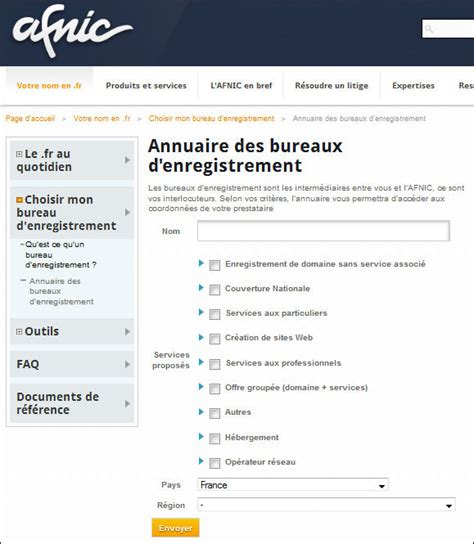 bureau d enregistrement définition bureau d enregistrement définitions marketing