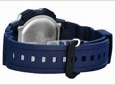 Jual Casio Tali Ressin Jam Tangan Digital Biru Silver AE