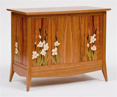 gladiola marquetry blanket chest