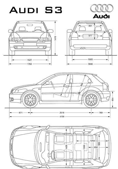 car blueprints chertezhi avtomobiley audi