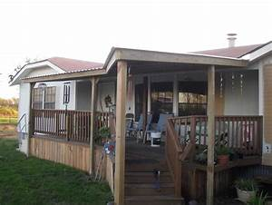 Mobile Home Covered Deck Decks And Patios For Homes Yard