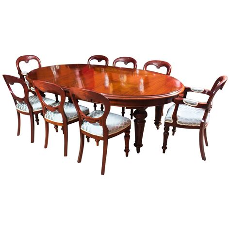 oval dining table and chairs antique victorian oval dining table 8 chairs c 1860
