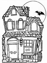 Coloring Haunted Pages Template Templates Tree Colouring sketch template