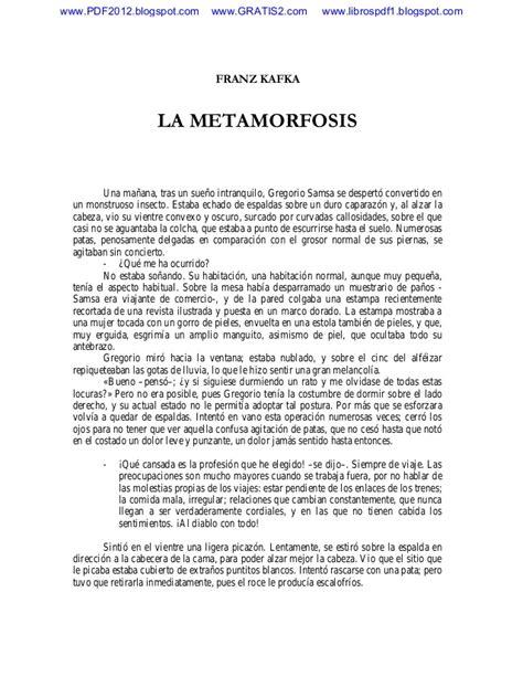 resumen de la metamorfosis la metamorfosis franz kafka