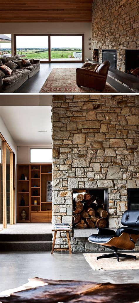 rural home combines rustic interior elements