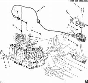 Buick Lucerne Cable  Transmission Shift Control Cable