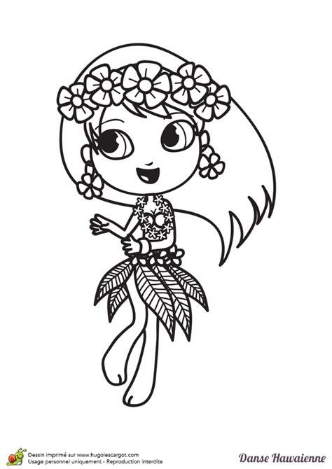 jeux de fille jeux de cuisine coloriage d une danseuse hawaïenne hugolescargot com