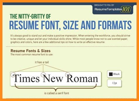 What Size Font Should A Resume Be by 12 13 What Font Size Should A Resume Be