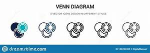 Venn Diagram Icon In Filled  Thin Line  Outline And Stroke Style  Vector Illustration Of Two