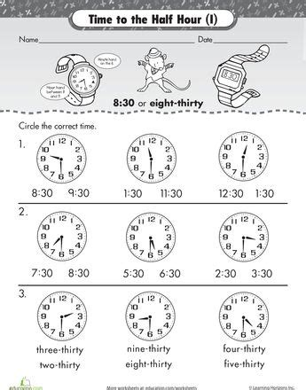hour telling time  malcolm mouse