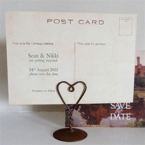 Save The Date Postcards With Your Wedding Venue By Please ...