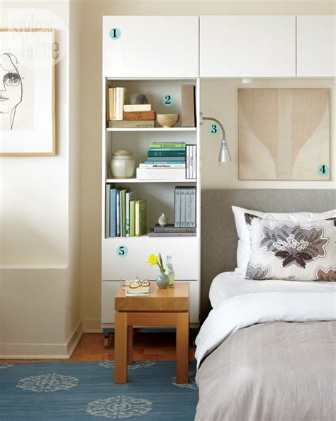 Bedroom Wall Shelving Units by Organizing Around The Bed Shelving Unit Style At Home
