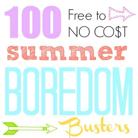 100 Summer Boredom Buster Ideas {create memories with kids