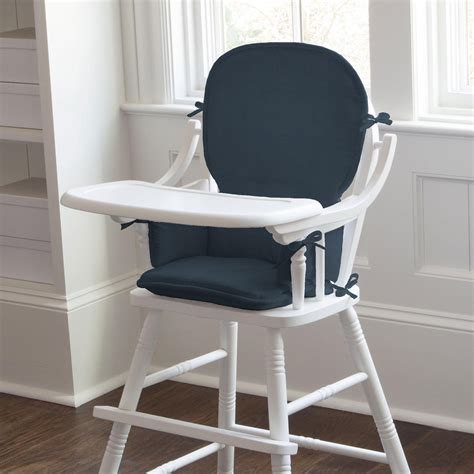 Chair Pad by Solid Navy High Chair Pad Carousel Designs
