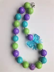 Purple Chunky Bead Necklace