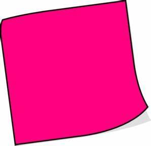 Pink Sticky Note Clip Art at Clker.com - vector clip art ...