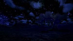 Stock, Video, Of, Solitary, Tree, And, Mountain, Starry, Sky