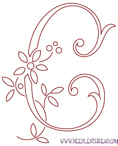 hand embroidery pattern monogram   avoiding satin stitch needlenthreadcom
