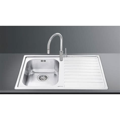 kitchen sink appliances smeg ll861d 2 kitchen sink 1 bowl brushed stainless steel 2560